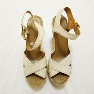 Vince Camuto Cross Strap Wedges